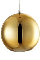 Gouden bol hanglamp van glas