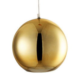 Gold sphere pendant light