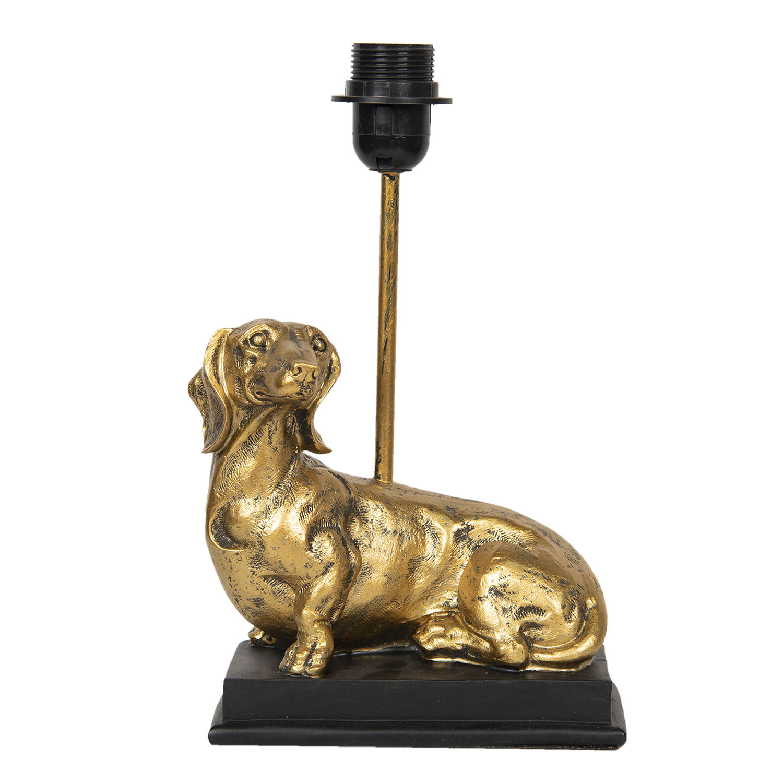 Gouden teckel hond tafellampje