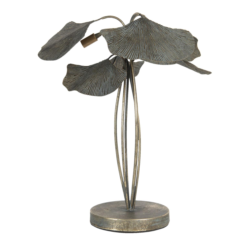 Aparte tafellamp met ginko bladeren
