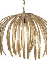 Pendant light with gold leaves