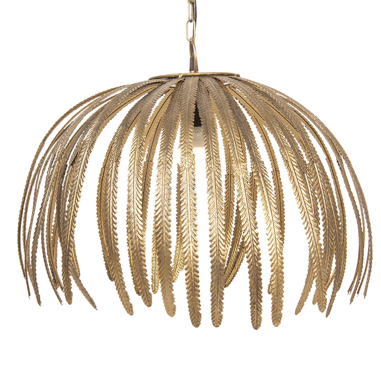 Aparte hanglamp met gouden bladeren