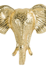 Gold elephant coat hook