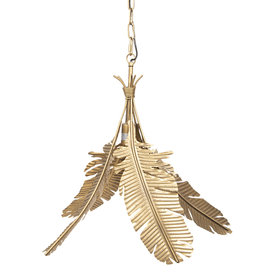 Pendant light with leaves