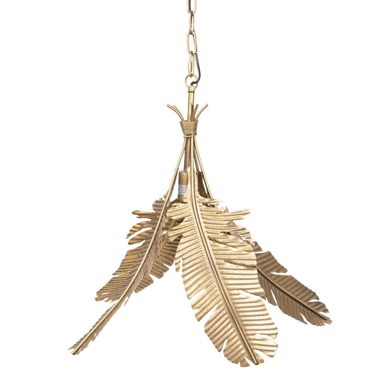 Gouden hanglamp met palmbladeren