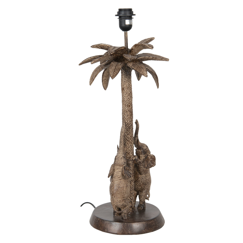 Tafellamp met olifanten en palmboom