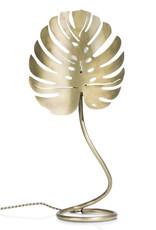 Gouden monsterablad tafellamp