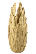 XXL gouden veren vaas voor op de vloer
