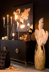 XXL gold feather floor vase