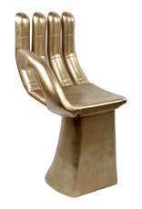 Gouden stoel in de vorm van een hand