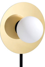 """Modern design table lamp """"Orb"""" with marble and gold"""