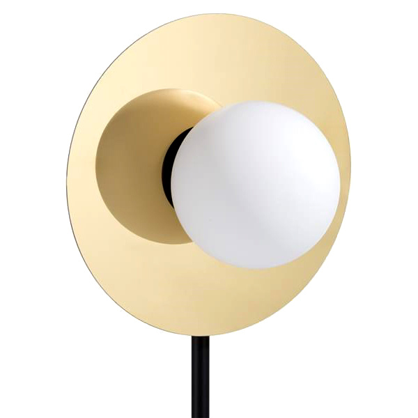 """Design tafellamp met marmer en goud """"Orb"""""""