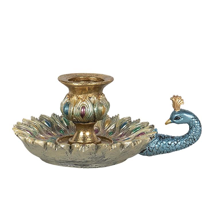 Retro peacock candlestick