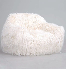 Fake fur chair
