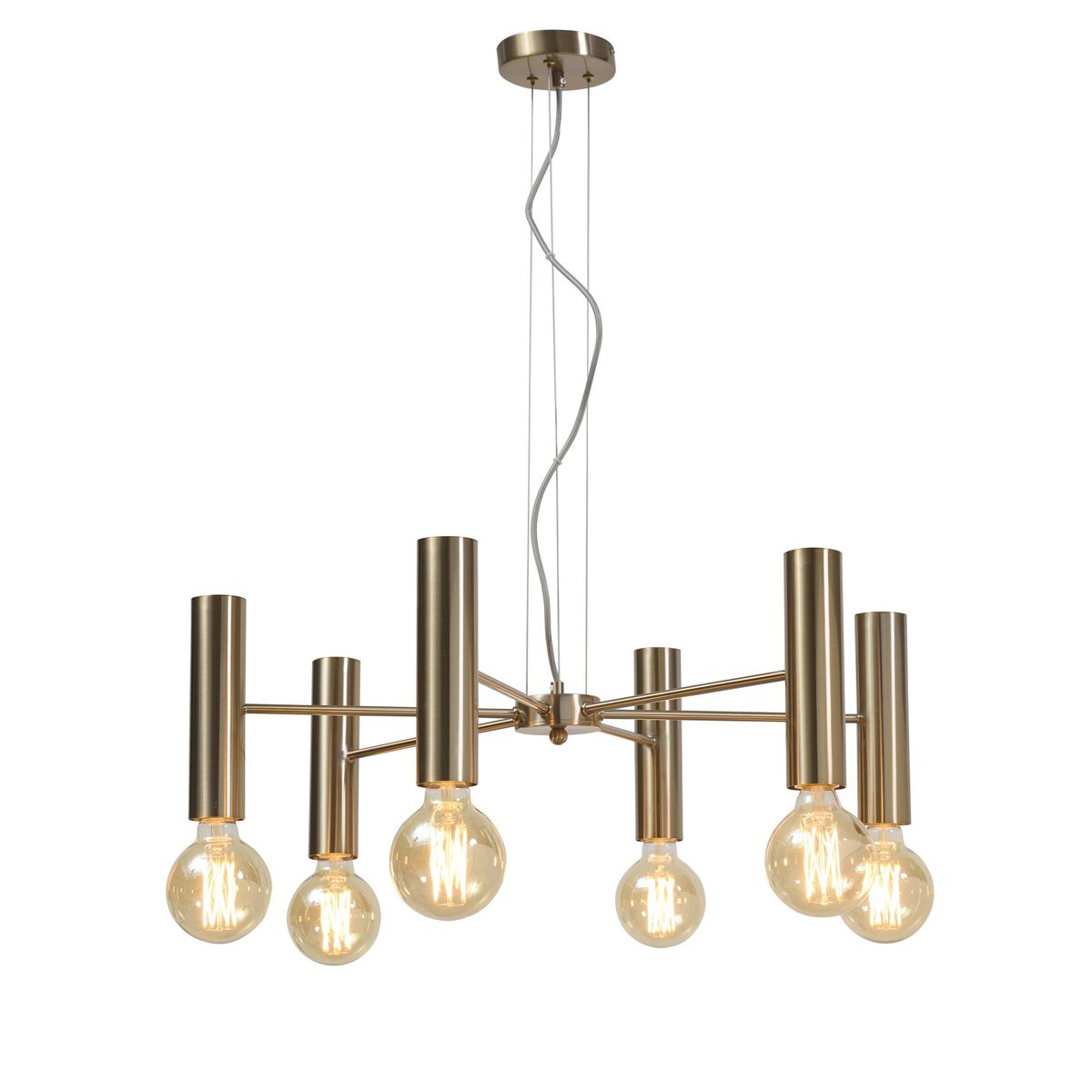 Sleek gold retro design chandelier