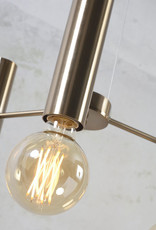 Sleek gold retro design chandelier