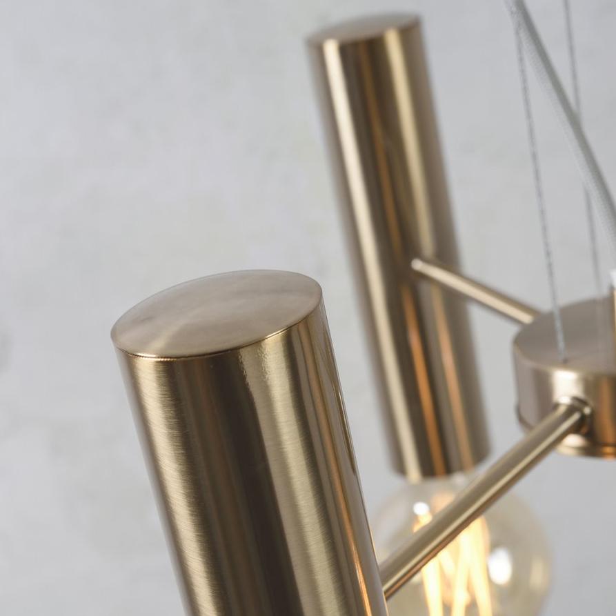 Strakke gouden retro design kroonluchter