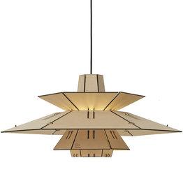 Houten retro hanglamp