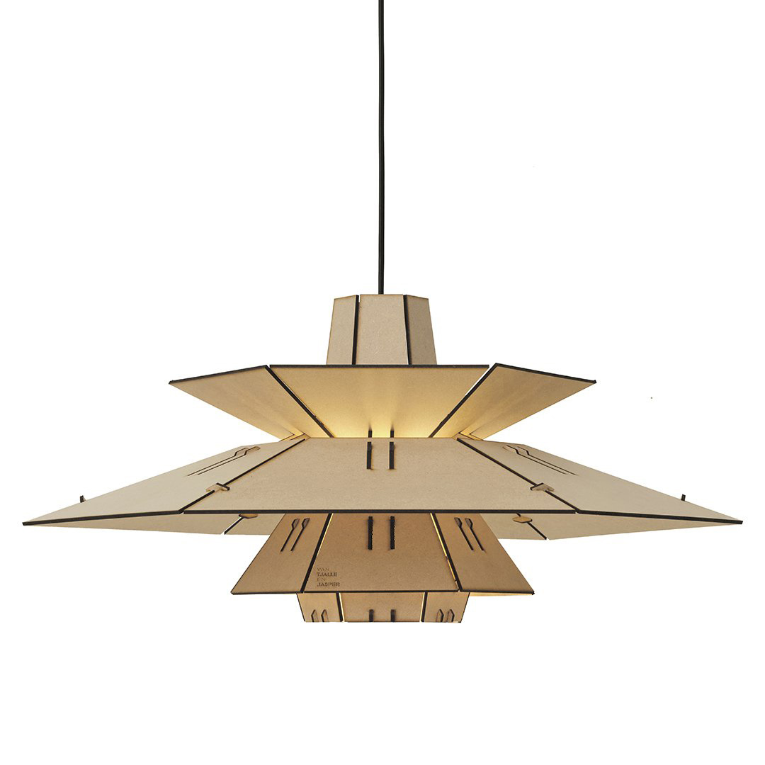 Wooden retro DIY pendant light