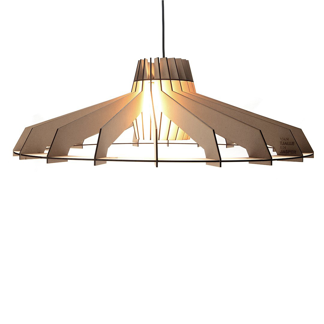 Large wooden DIY pendant light
