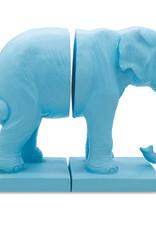 Blauwe olifant boekensteunen