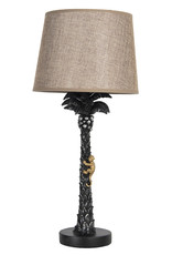 Monkey and palm table lamp