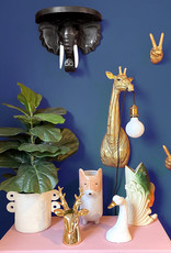 Gold ceramic deer money bank