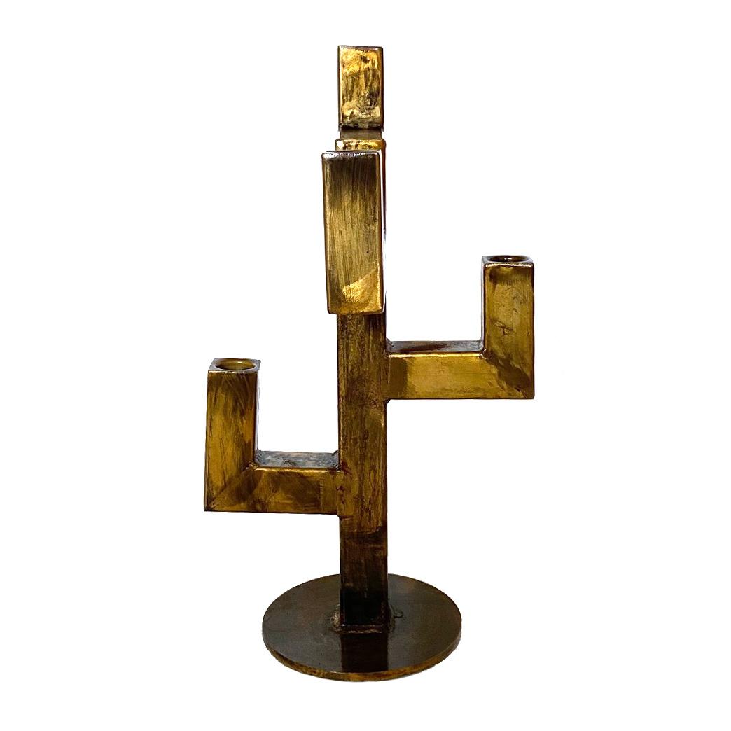 "Gold metal candlestick ""Kris"""