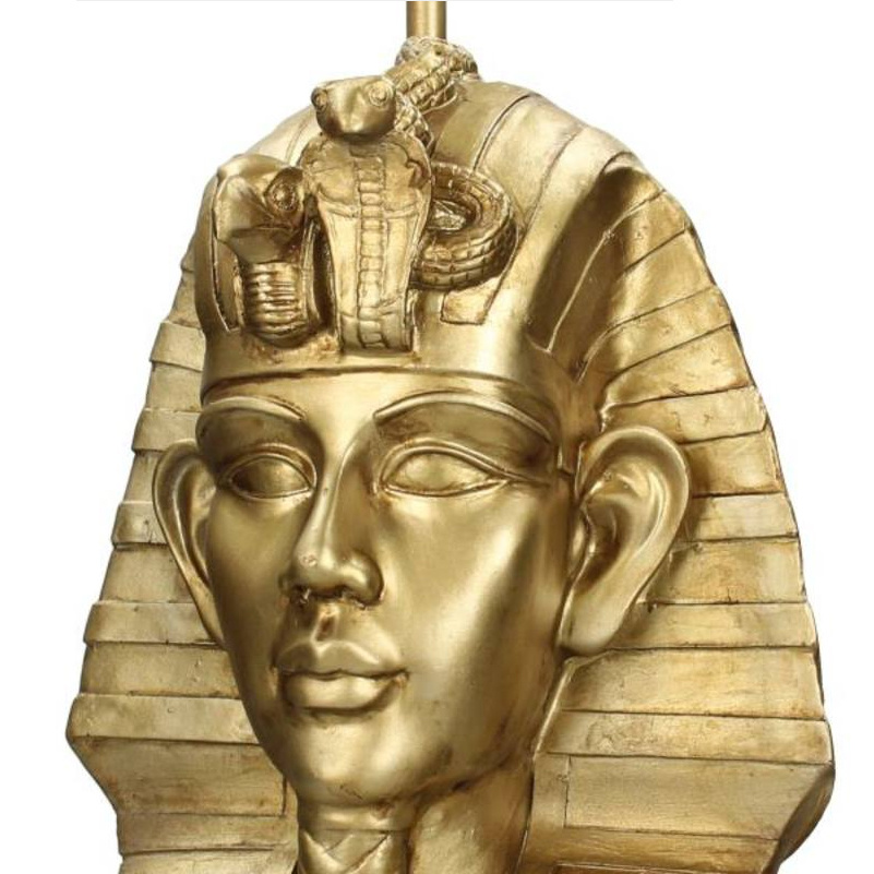 Gold pharaoh bust table lamp