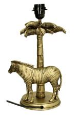 Gold zebra table light