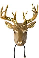 Gold deer wall light