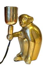 Gouden aap tafellampje