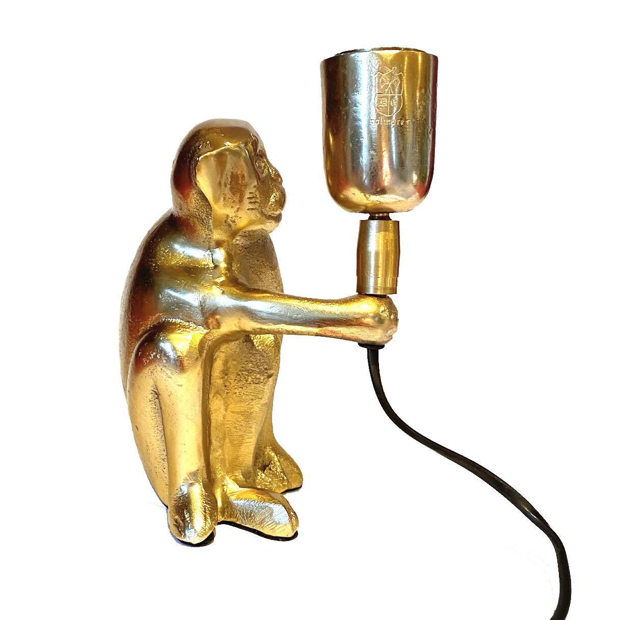 Gold monkey table light