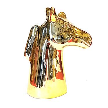 Gouden zebra paard vaas van keramiek