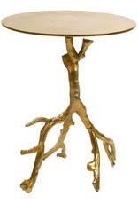 Hippe design bijzettafel met gouden takken