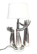 Silver hand table light