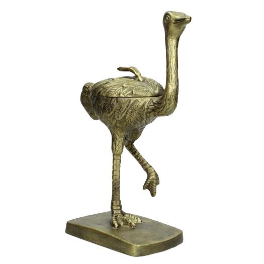 Gouden struisvogel decoratie object