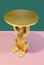 Gold monkey side table