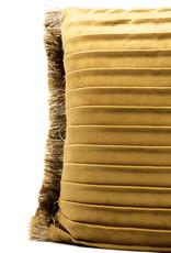 Luxury gold velvet sofa cushion with pleats