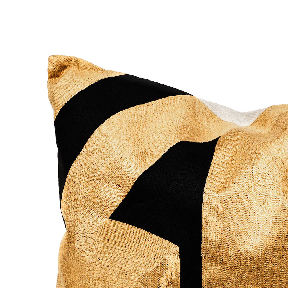 Modern luxury sofa cushion with gold pattern
