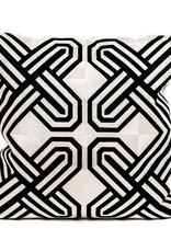 Modern luxury sofa cushion with black and white pattern