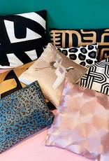 Modern luxury sofa cushion with gold pattern