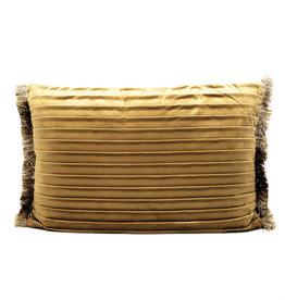 Sofa cushion with pleats