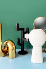 """Moderne design vaas van goud keramiek """"Tube"""""""