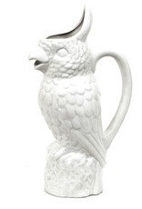 White ceramic jug in the shape of a toucan bird