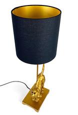 Gold monkey table lamp