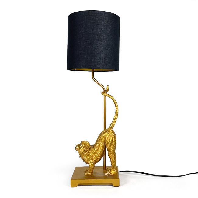Gouden aap design tafellamp