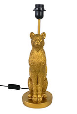 Gold leopard table lamp