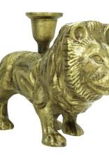 Gold lion candlestick