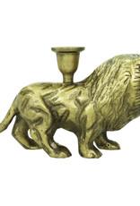 Gouden leeuw kandelaar